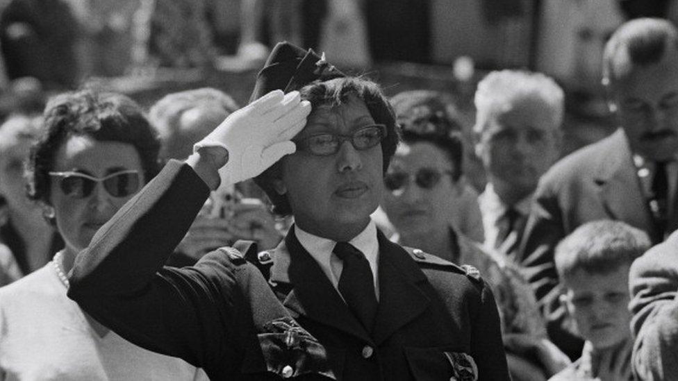 جوزيفين بيكر لدى تكريمها عام 1961