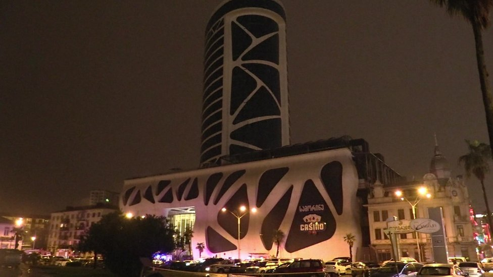 Still image of Leogrand Hotel and casino in Georgia