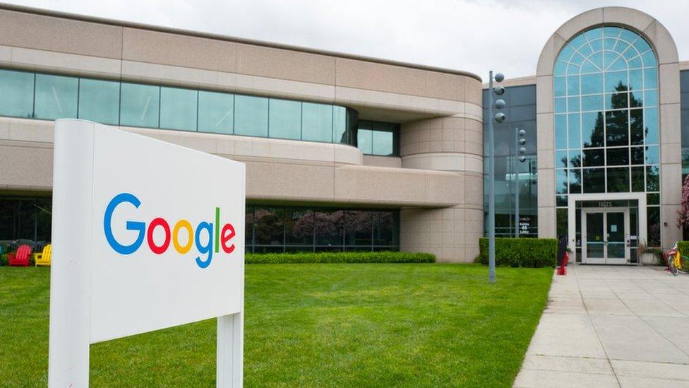 Oficinas centrales de Google en California.
