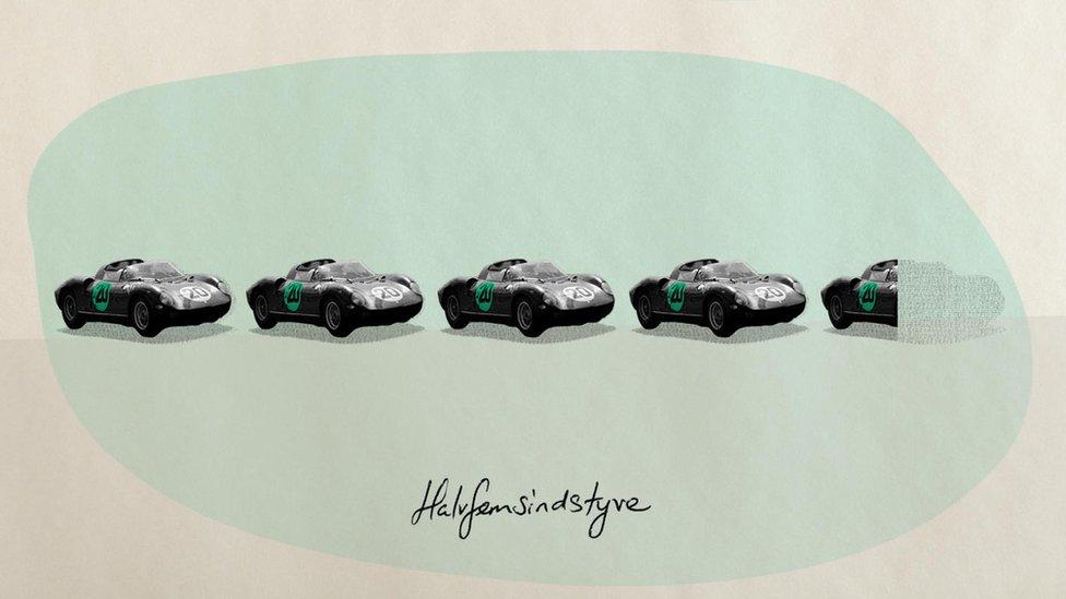 Imagen de autos e fila