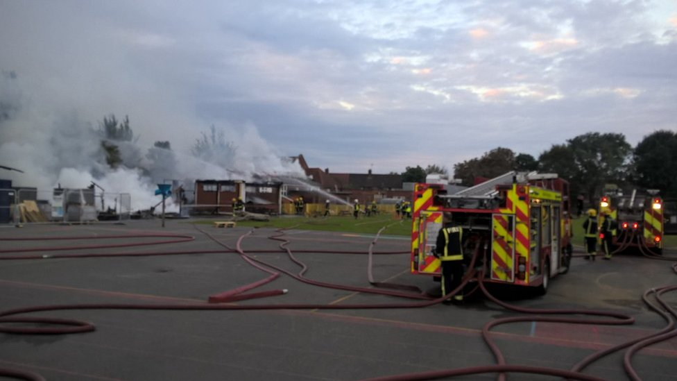 Fire at Roding Primary School