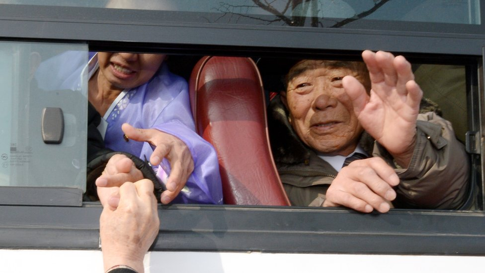 Reunions for families separated by the Korean War took place in more than three years in February of 2014