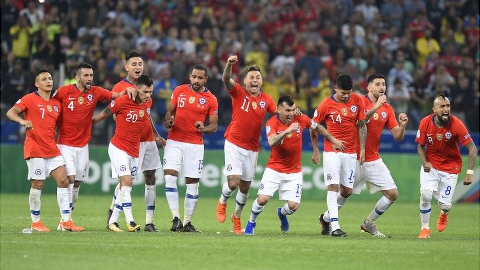 Chilenos celebran su triunfo