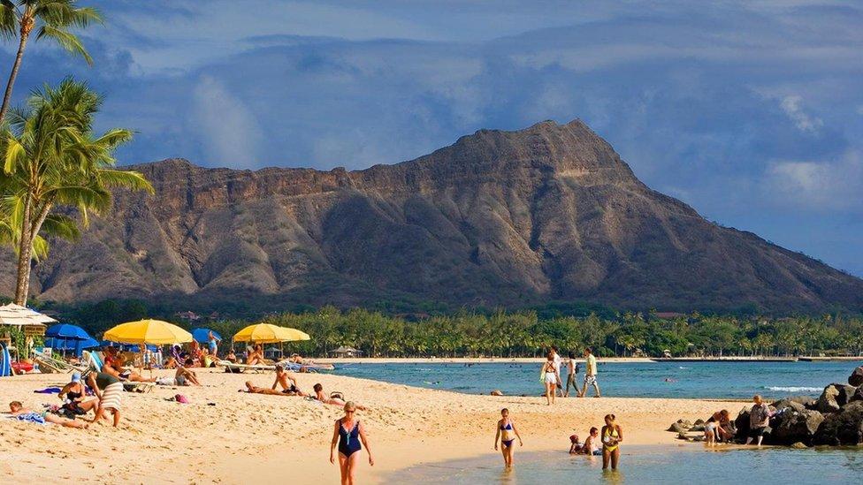 Una playa en Hawaii