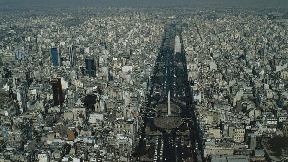 Vista aérea de Buenos Aires