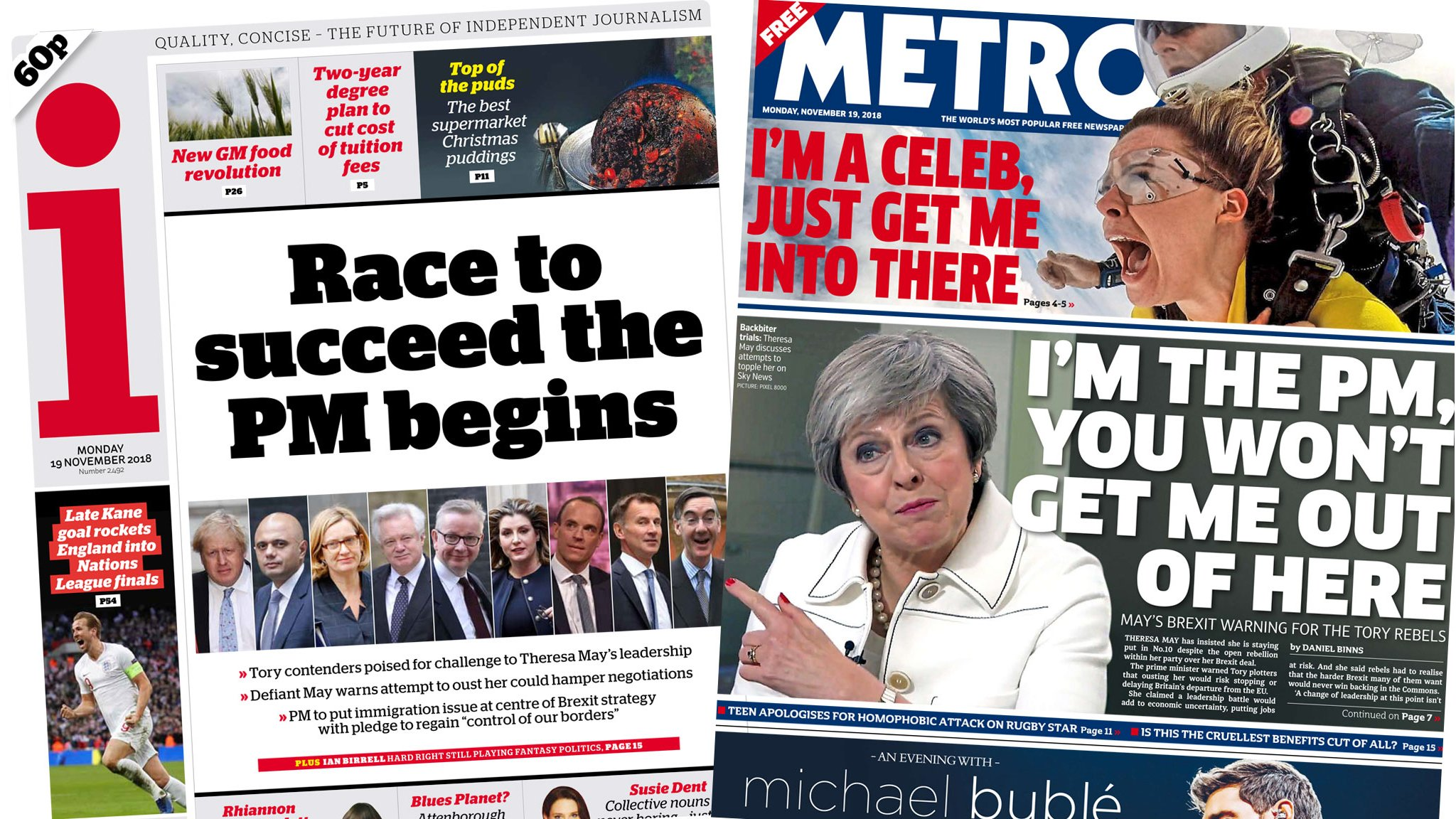 The Papers: Crucial week for PM and return of I'm A Celeb