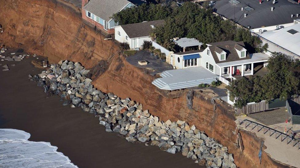 Coastal erosion in California