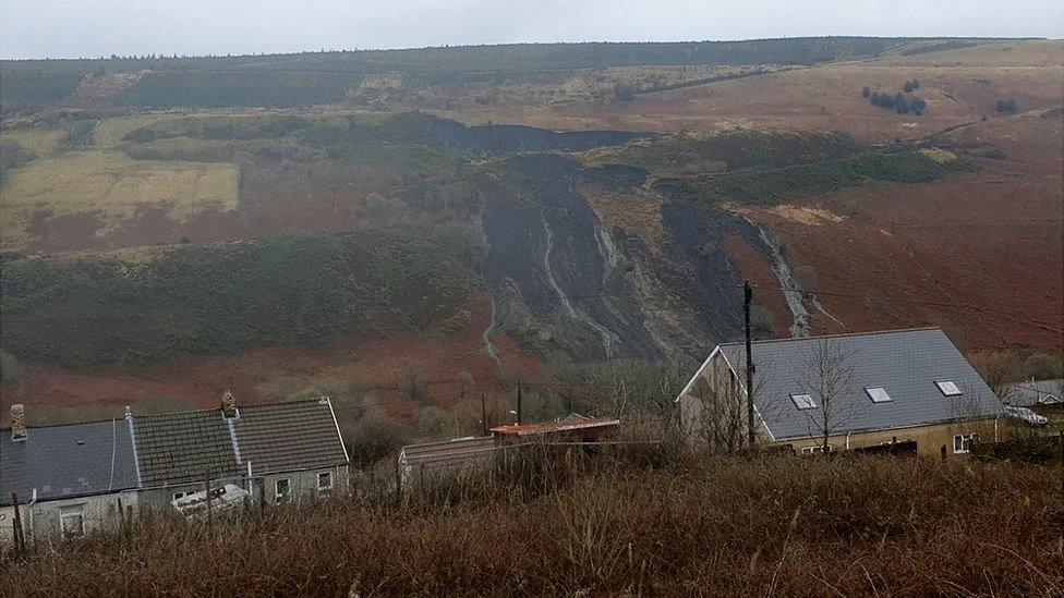 Landslide at Llanwonno