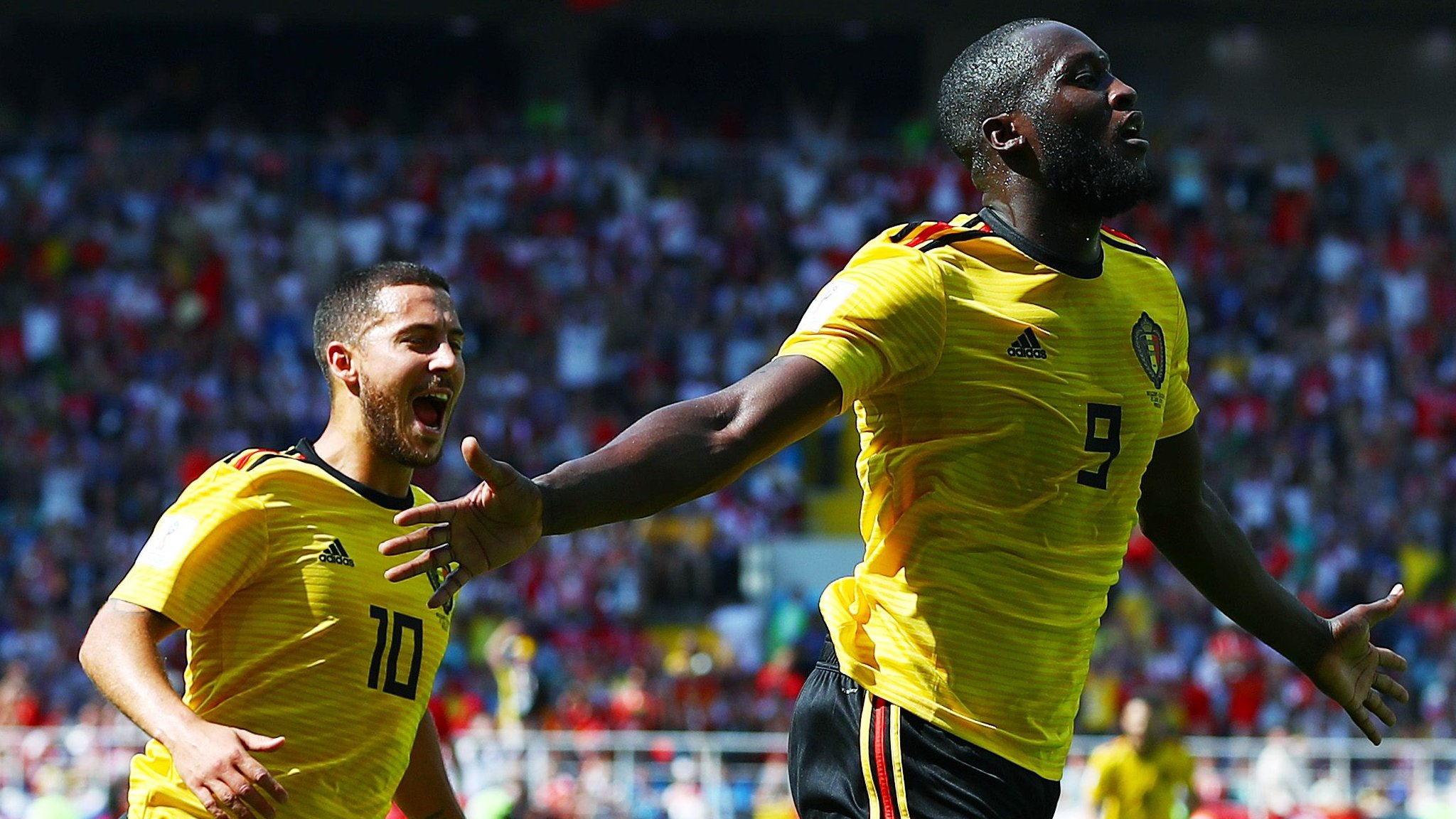 Lukaku & Hazard put Belgium on verge of last 16 - highlights & report