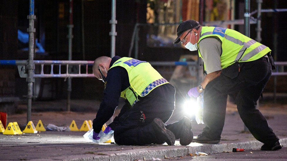 Police investigate shooting incident in Malmo, 18 Jun 18