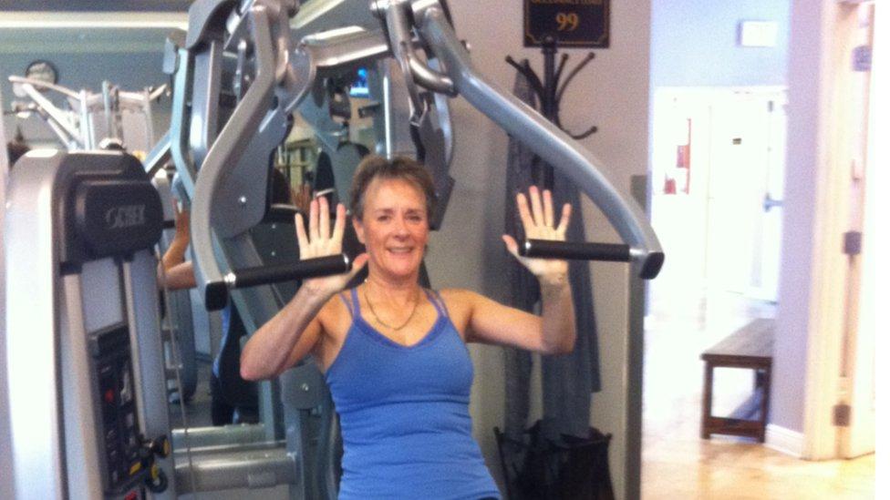 Helen Stenson exercising