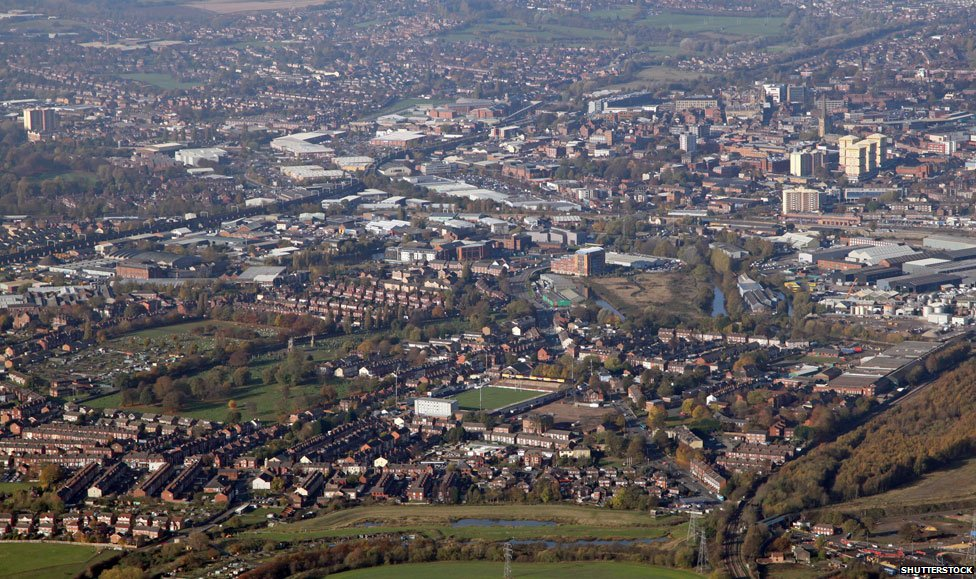 Wakefield from the air