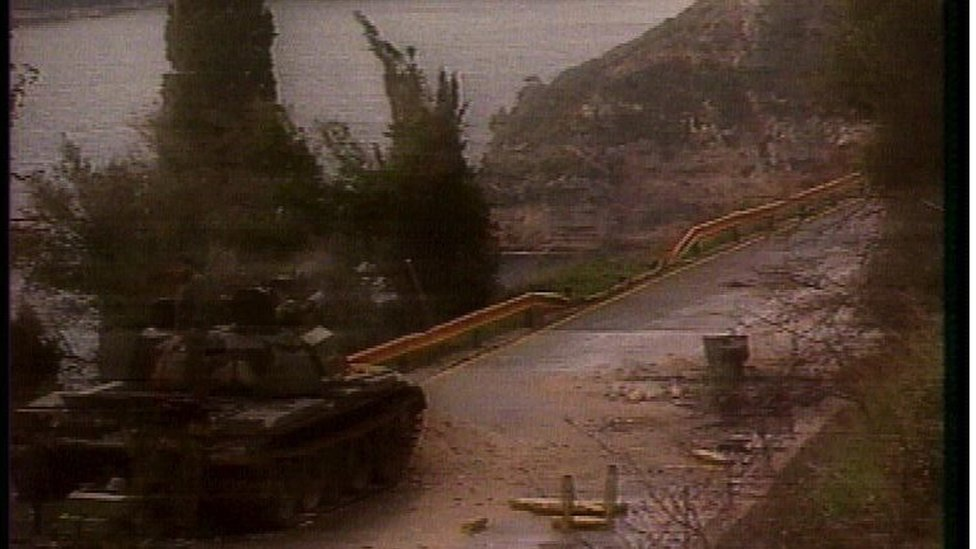 Tenk JNA u blizini Dubrovnika