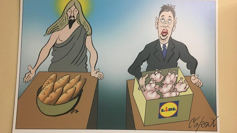 Koraksova karikatura - Lidl - Beograd, 22.11.2018.