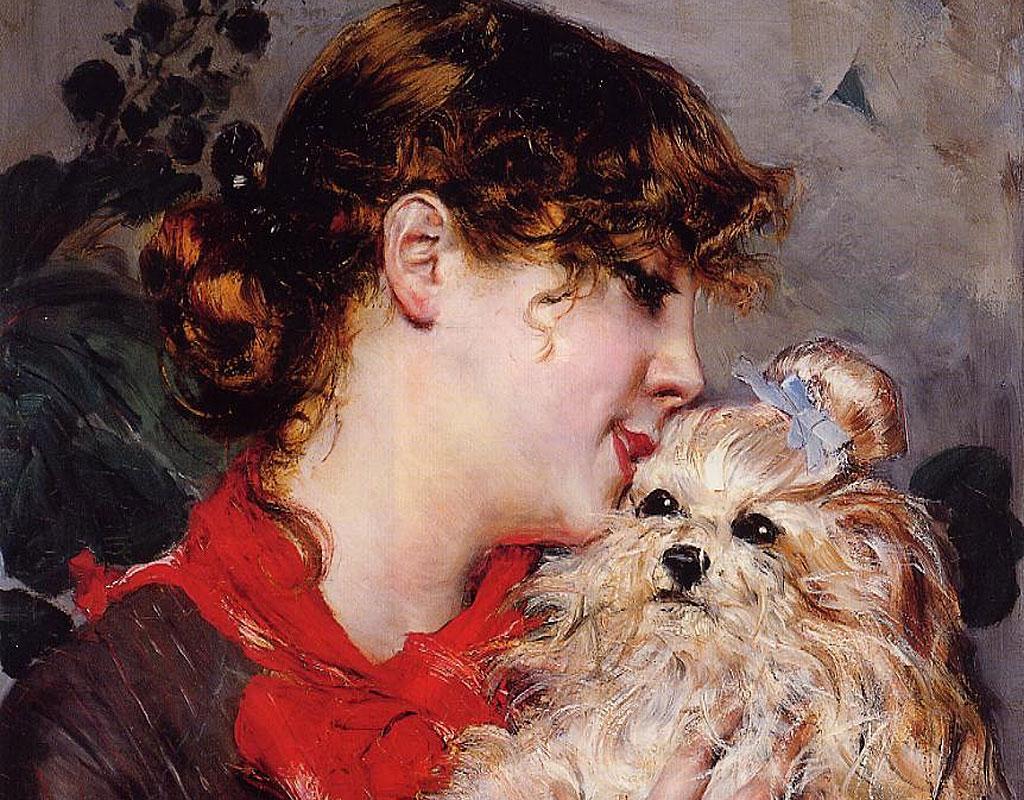 """""""La actriz Rejane y su perro"""", de Giovanni Boldini."""