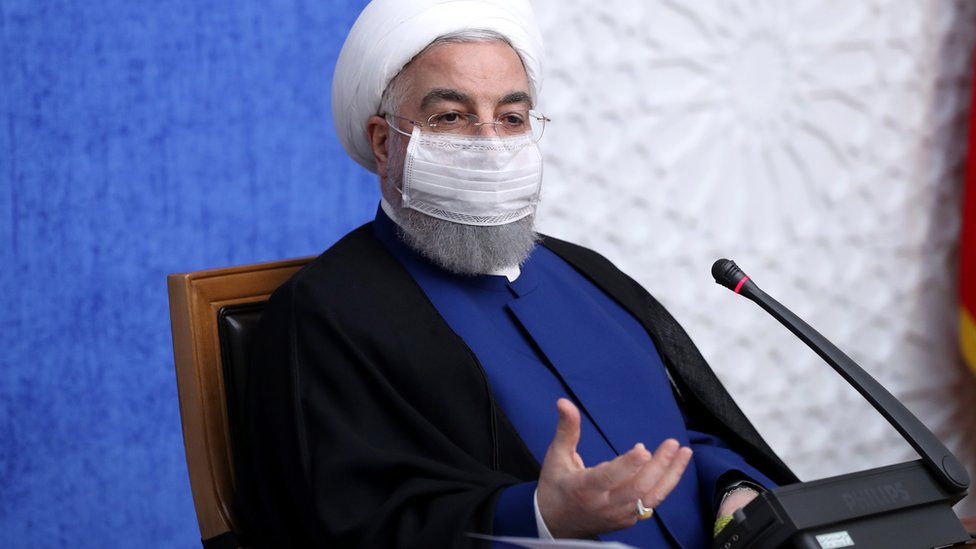 Iranian President Hassan Rouhani speaks during a meeting in Tehran, Iran (8 November 2020)