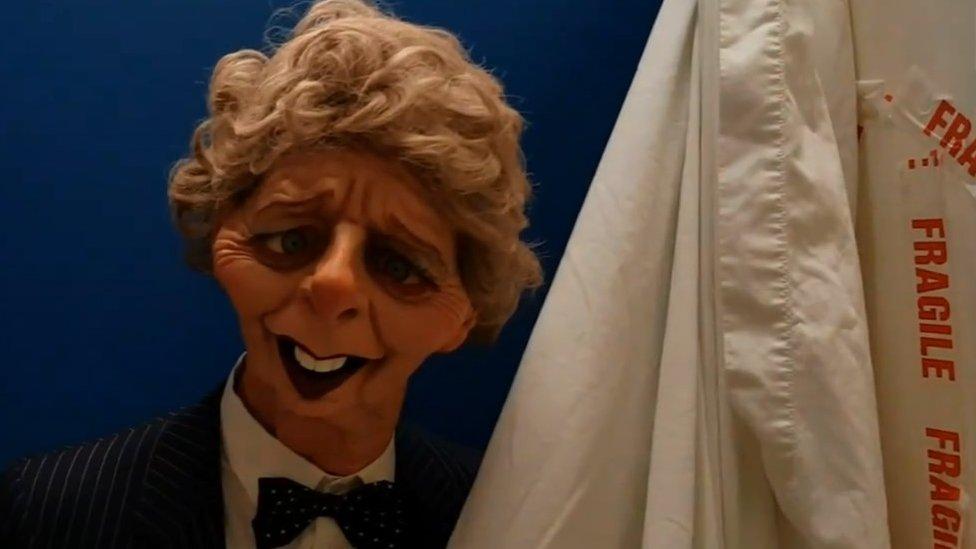 BBC News - Margaret Thatcher Spitting Image puppet back on show in Grantham