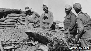 Indian officers during war with China