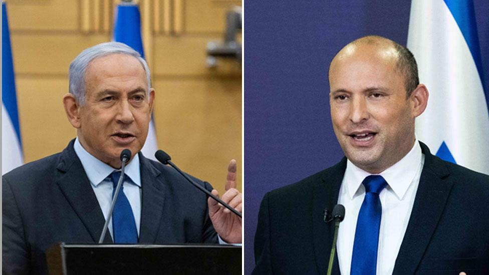 Netanyahu (i) y Bennett (d)