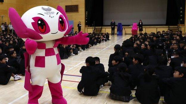 La mascota de los Juegos Paralímpicos en 2019.