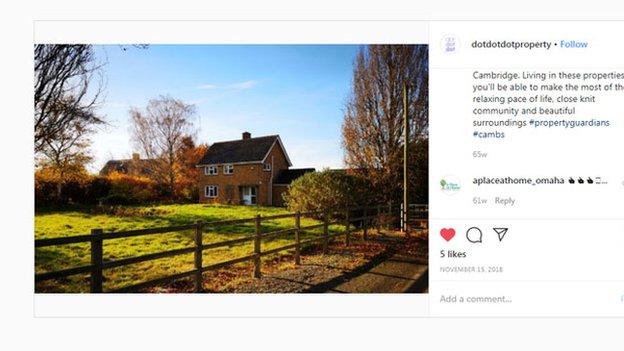 Una propiedad mostrada en el Instagram de Dot Dot Dot