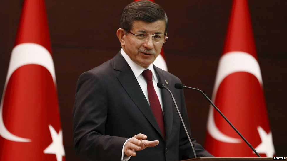 Turkey's Prime Minister Ahmet Davutoglu (28 August 2015)