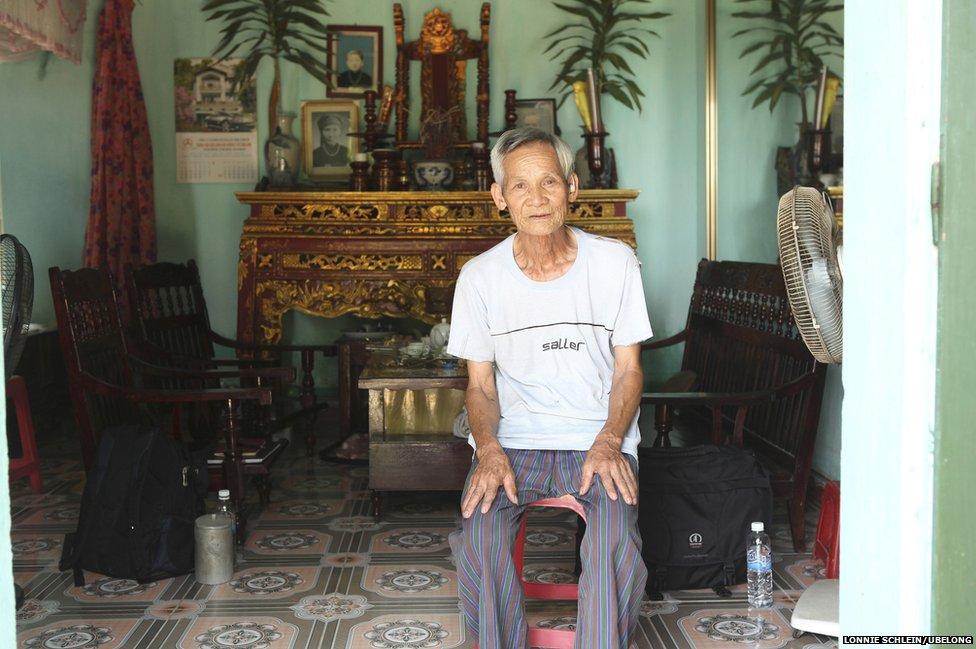 Nguyen Van Vuong, 83, at his home in Chi Linh, Hai Duong province