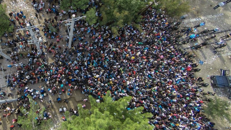 Hundreds of migrants tried to break through the border on Friday, 21 Aug