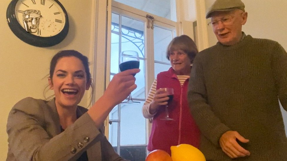 Ruth Wilson and parents