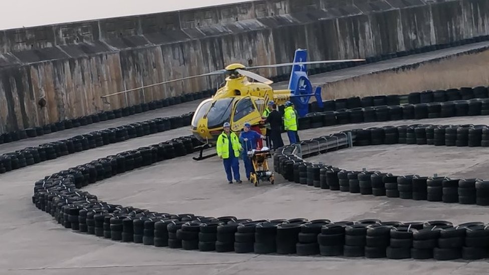 Man seriously hurt in Blackpool sea wall fall