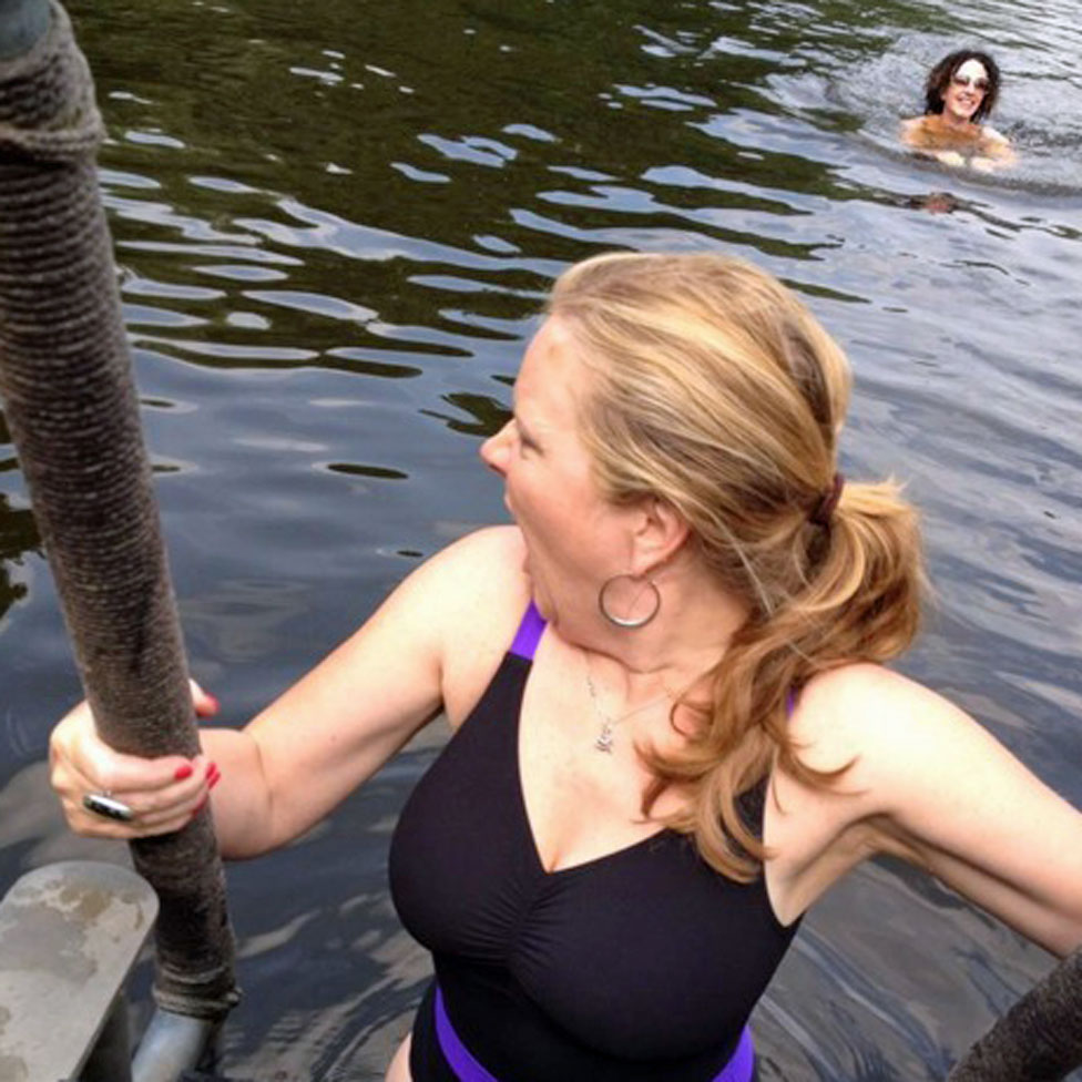 Sue in the ponds