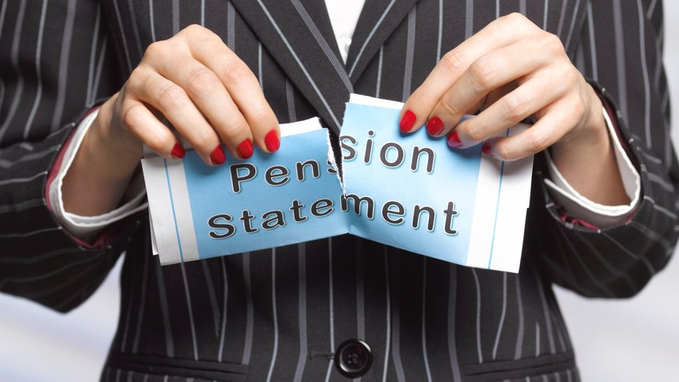 Ripped up pension statement