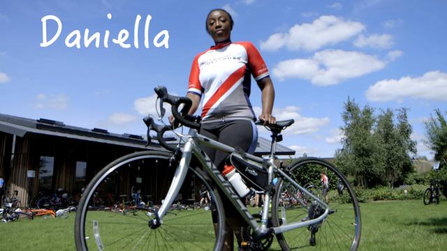 Daniella with her bike