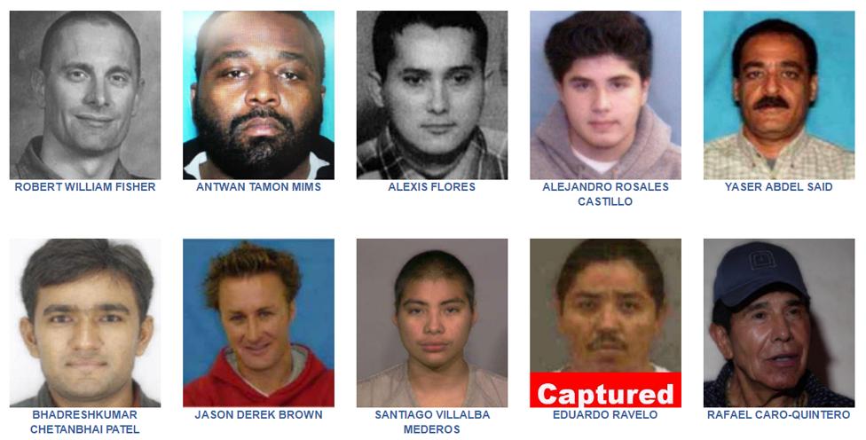 Lista de los 10 más buscados por el FBI