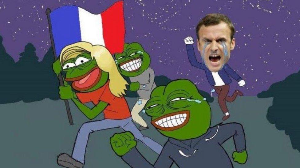Macron and pepes