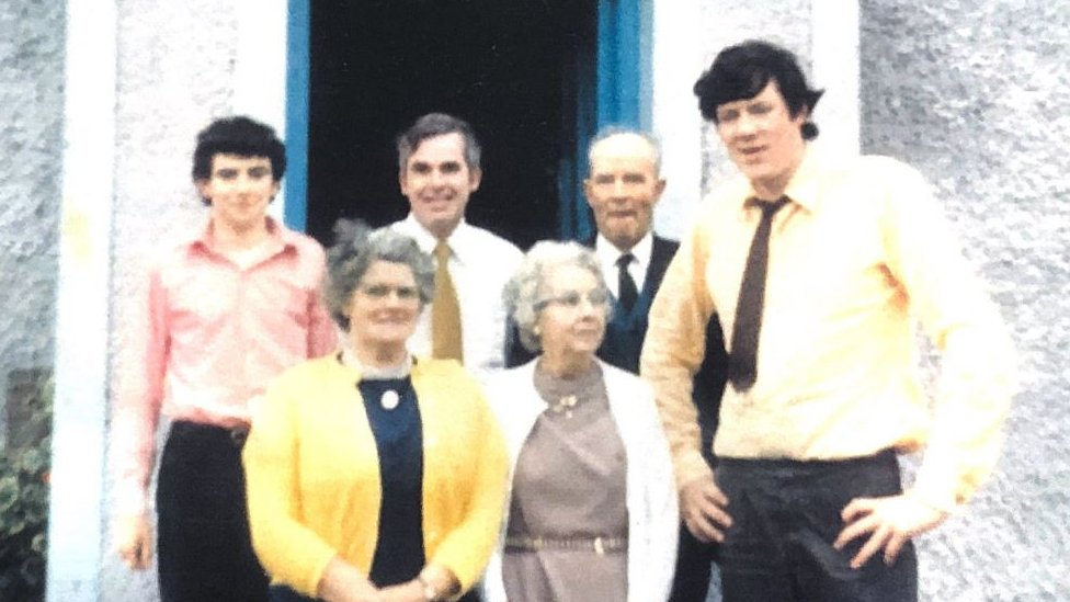 Members of the Holland family in 1970.