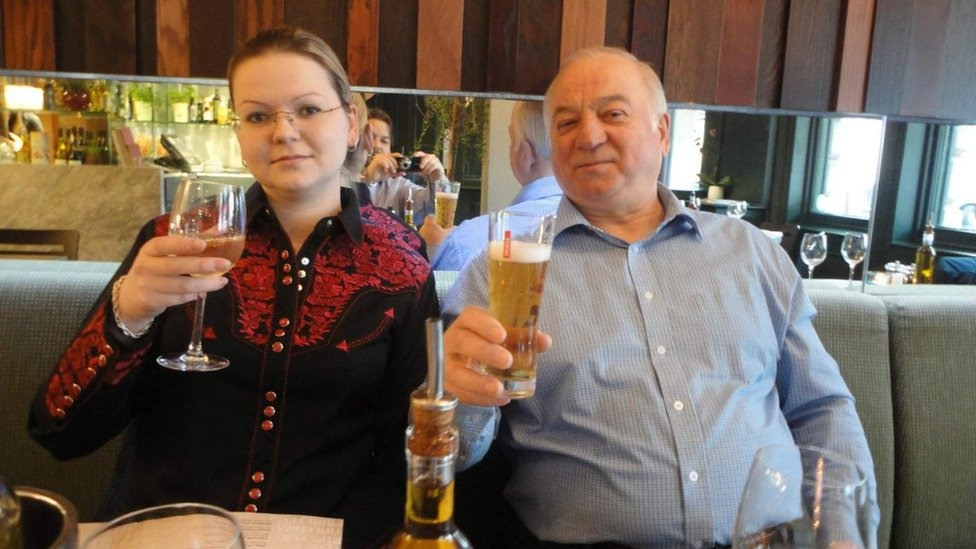 File photo of Yulia and Sergei Skripal