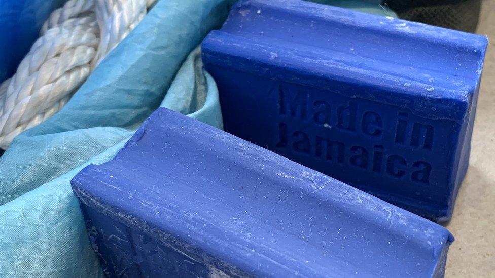 Blue carbolic soap