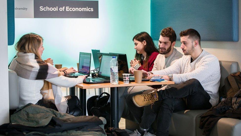 Estudiantes en la Universidad de Utrecht