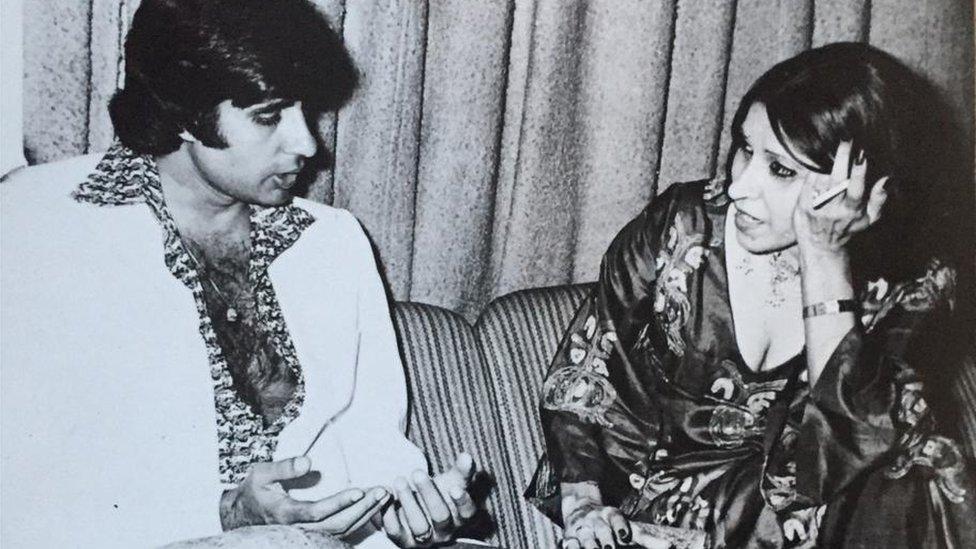 Gulshan Ewing with Amitabh Bachchan