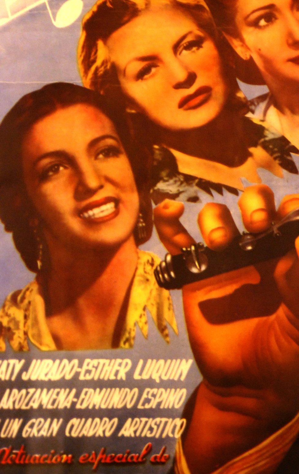Afiche película de la actriz