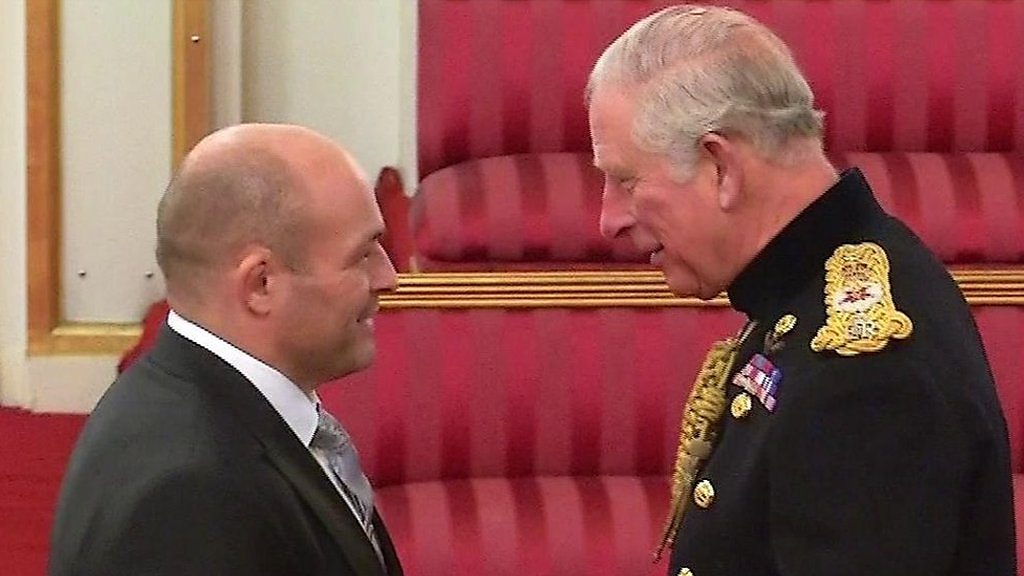 Rory Best receives an OBE from Prince Charles