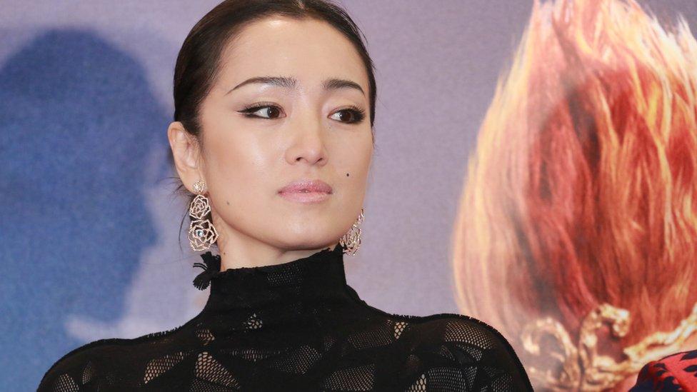 Actress Gong Li attends a charity premier in Hong Kong