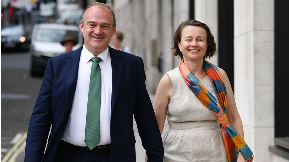 Ed Davey with wife Emily