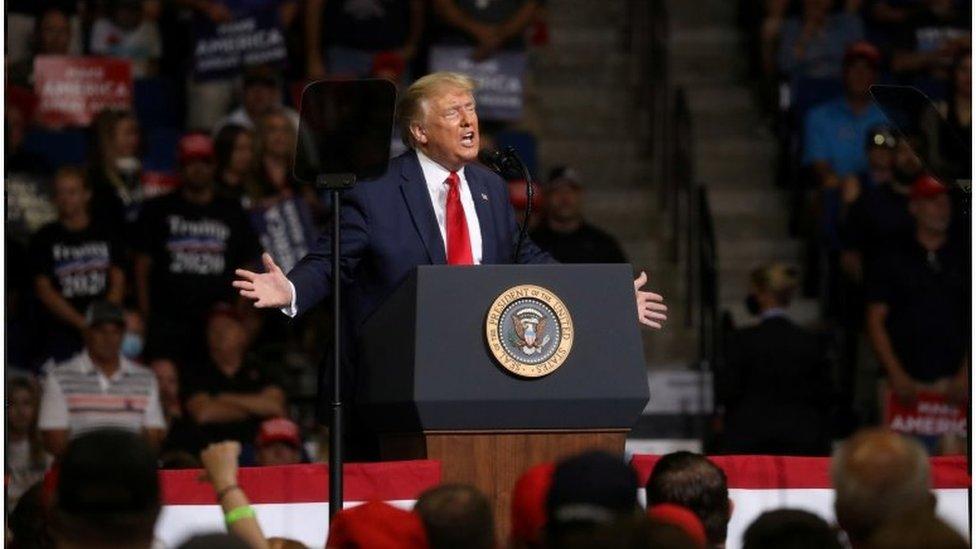 Trump em evento de campanha