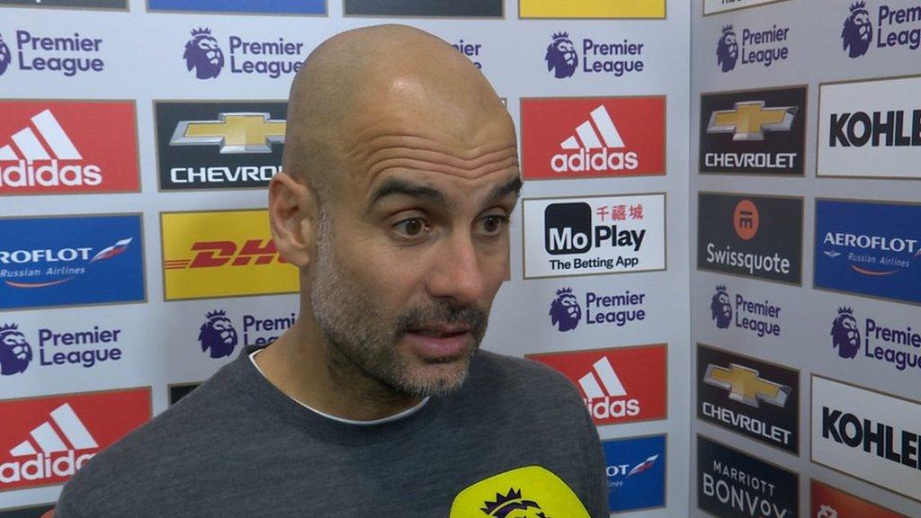 Man Utd 0-2 Man City: Pep Guardiola praises title-chasers 'incredible' second-half performance