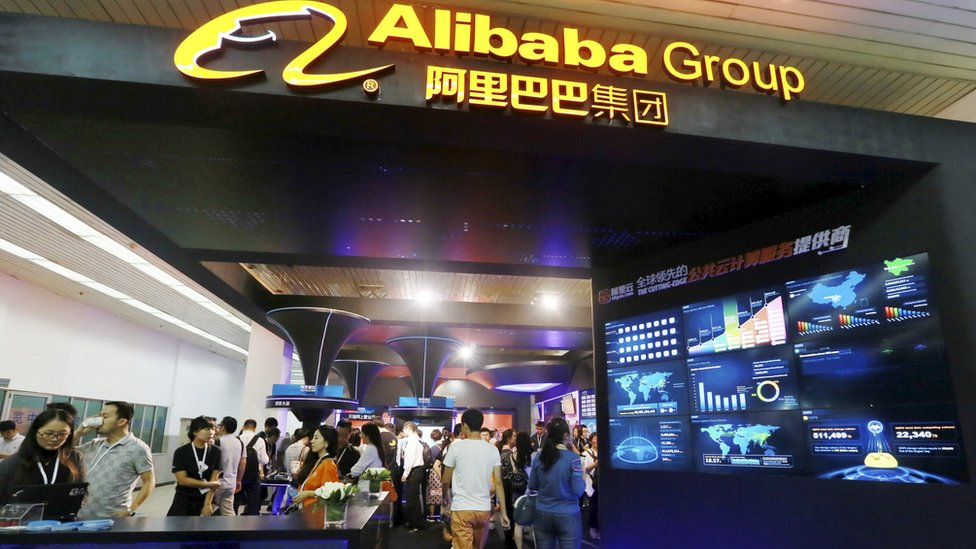 Alibaba Group during an exhibition in Beijing, China, September 22, 2015