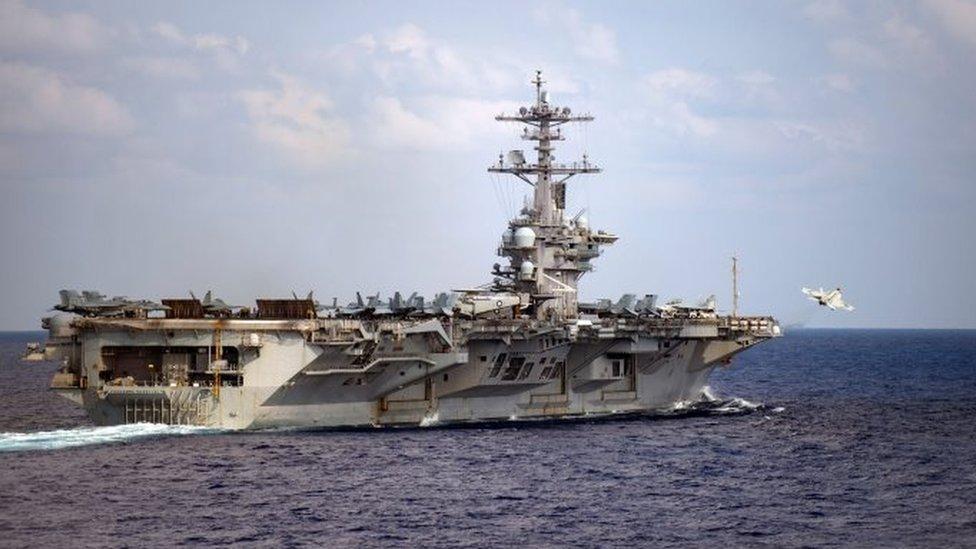 El portaviones USS Theodore Roosvelt