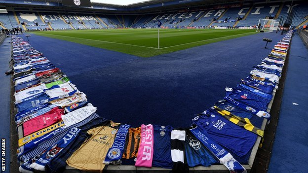 Vichai Srivaddhanaprabha: Leicester players and fans pay respects at first home game since tragedy