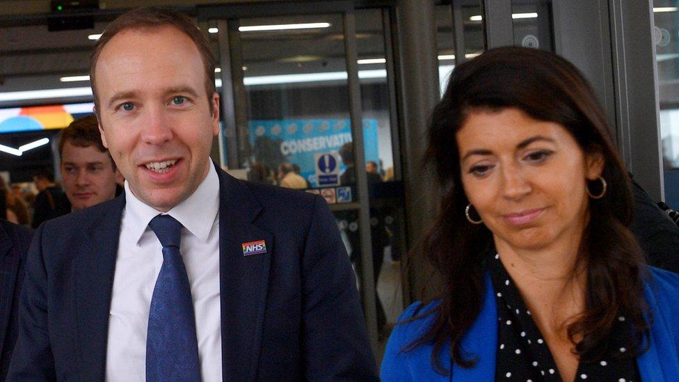 Matt Hancock con Gina Coladangelo